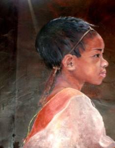 ME LA enfant Karen - Thaïlande - dans Peintures S63000492-234x300