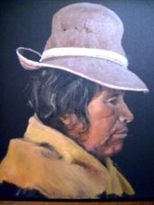 Indienne Uros - Pérou - dans Peintures S6300648-225x300