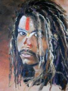 JEUNE INDIEN SADHU dans Peintures dscn09151-225x300